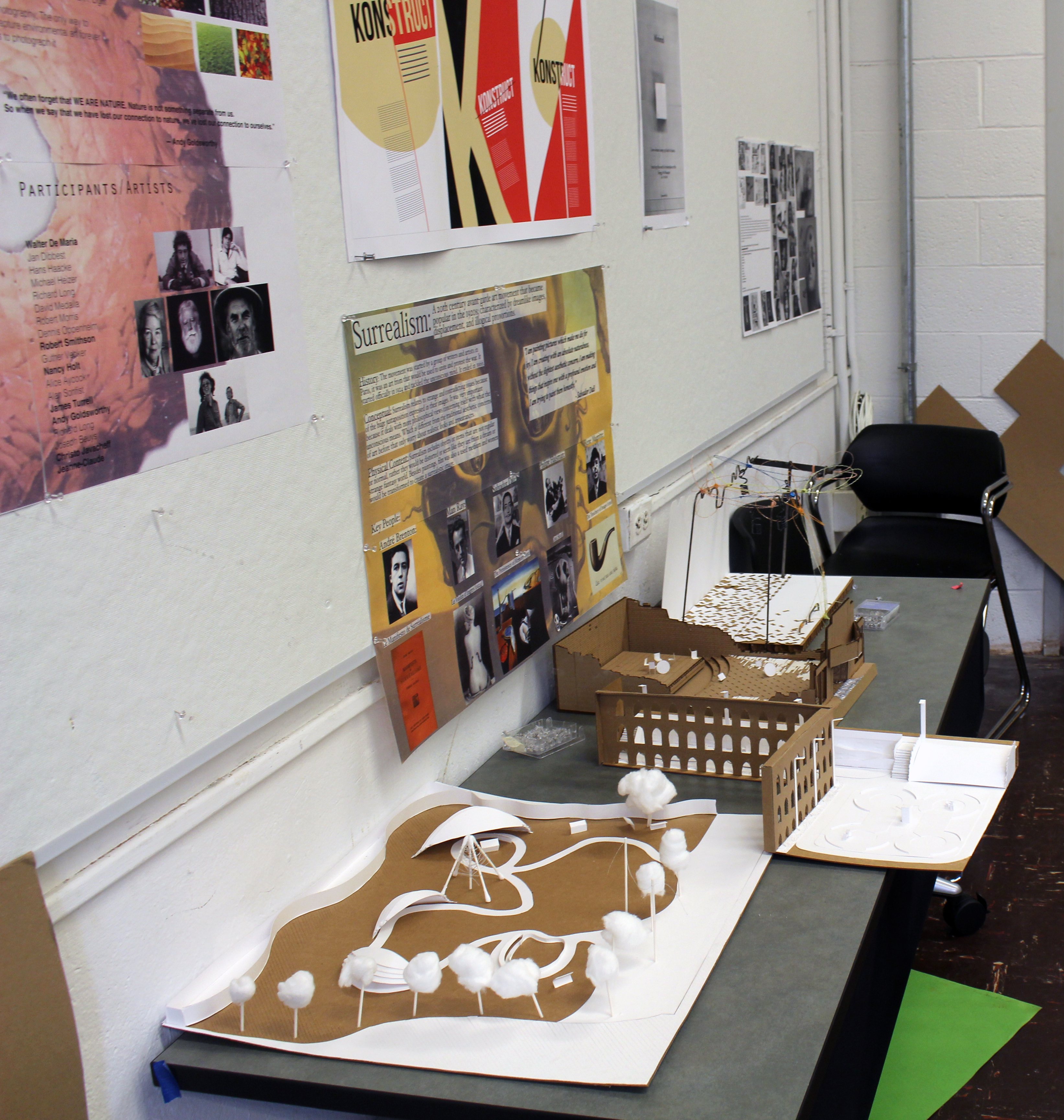Student work from the accelerated first year summer studio.